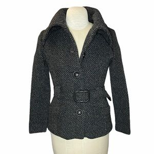 Soia & Kyo Gorgeous Wool Blend Belted Jacket Coat